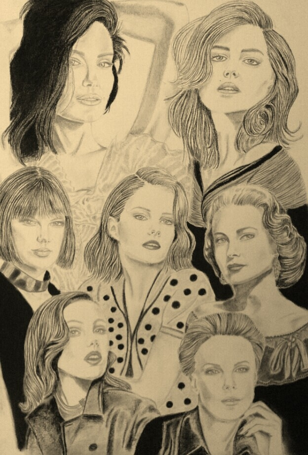 Charlize Theron, Frida Gustavsson, Grace Kelly, Lucy Boynton, Taylor Swift, Kate Upton, Angelina Jolie por mngha